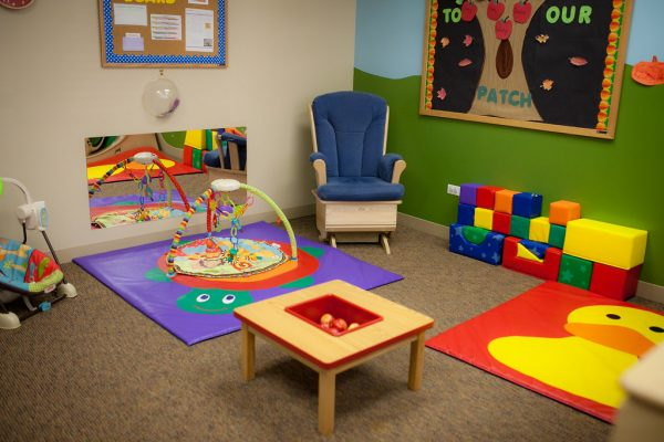 colorful furniture in a daycare