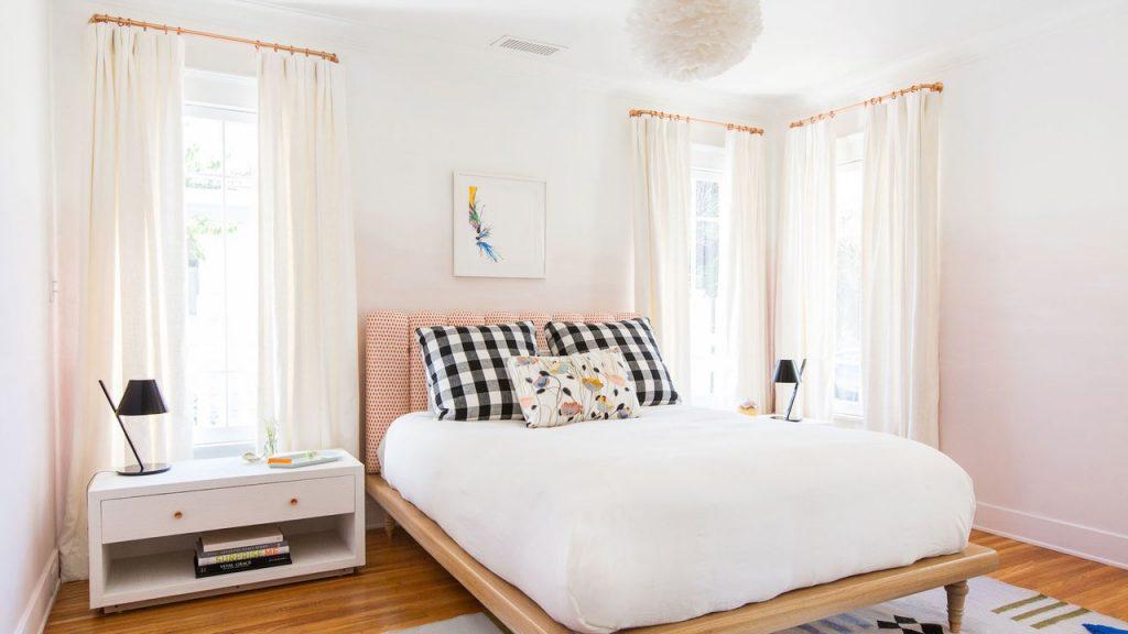 White colored bedroom interior