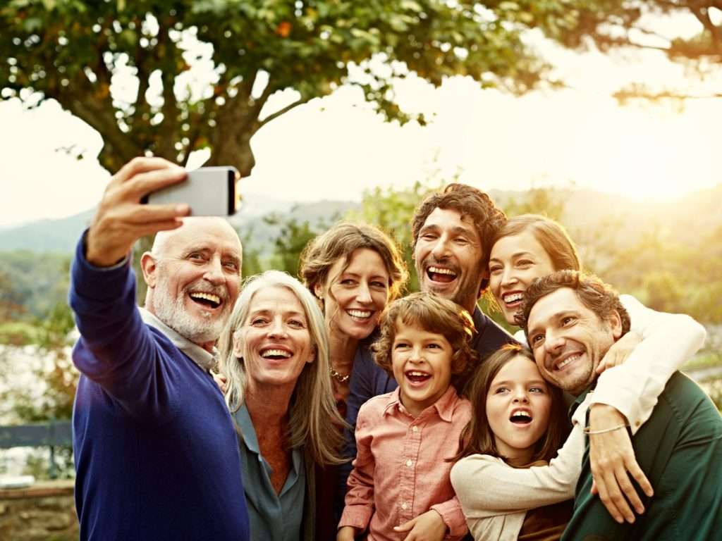 A Family taking a photo